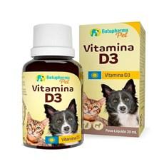 Suplemento Cães e Gatos Vitamina D3 Botupharma - 20mL