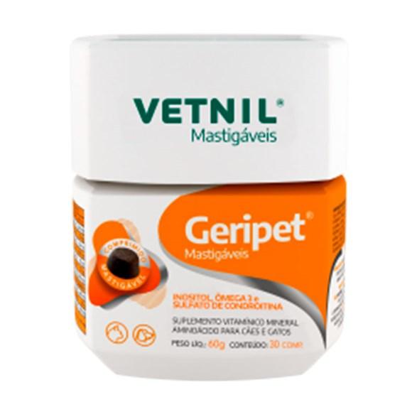 Suplemento Geripet Mastigáveis Vetnil C/30 Comprimidos