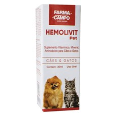 Suplemento Hemolivit Pet Farmacampo 30mL