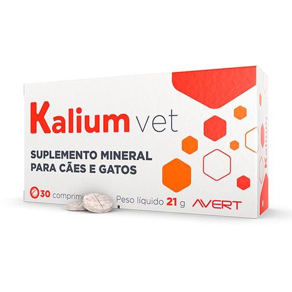 Suplemento Kalium Vet Para Cães e Gatos Avert C/30 Comprimidos