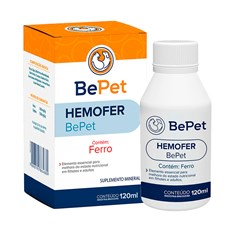 Suplemento Mineral Hemofer Cães e Gatos Bepet - 120mL