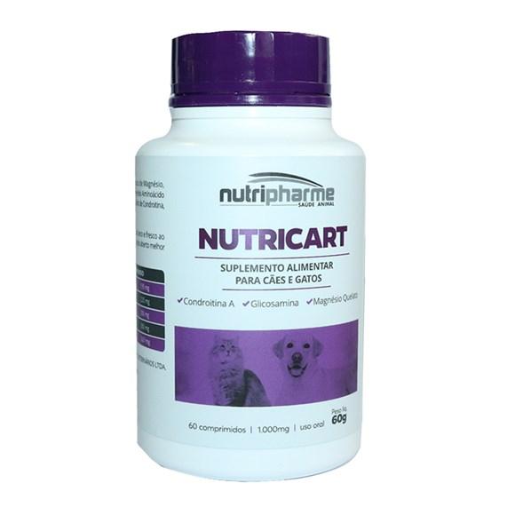 Suplemento Nutricart 1000 Cães E Gatos C/60 Comprimidos
