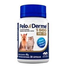 Suplemento Pelo e Derme 1500 DHA+EPA Vetnil C/30 Cápsulas