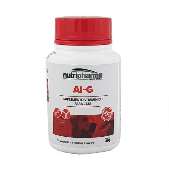 Suplemento VitamínicoAi-G 1000Cães Nutripharme C/30 Comprimidos