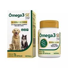 Suplemento Vitamínico para Cães e Gatos Omega 3+SE 550 Vetnil - 33g - 30 cápsulas