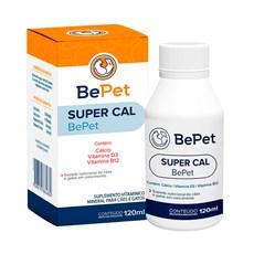 Suplemento Vitaminico SuperCal Caes e Gatos BePet - 120mL
