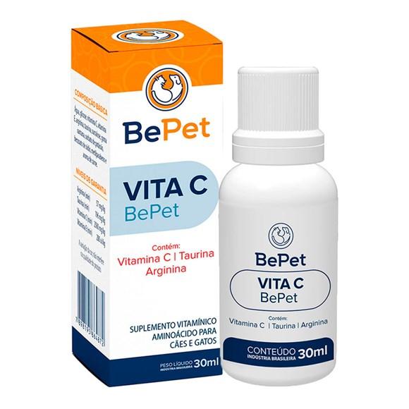 Suplemento Vitaminico Vita C Caes e Gatos Bepet - 30mL