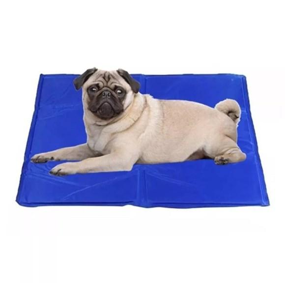 Tapete Gelado Para Caes Azul Medio - The Pets Brasil