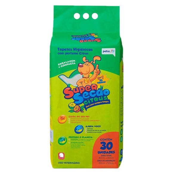 Tapete Higiênico Cães Super Secão Citrus Petix C/30 Unidades