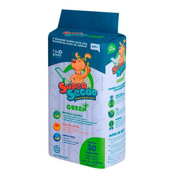 Tapete Higiênico Cães Super Secão Green Petix C/30 unidades