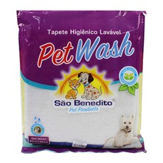 Tapete Higiênico Lavável Médio Pet Wash São Benedito Pet Azul