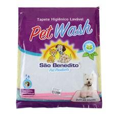 Tapete Higiênico Lavável Médio Pet Wash São Benedito Pet Rosa