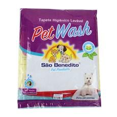 Tapete Higiênico Lavável Médio Pet Wash São Benedito Pet Vermelho