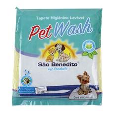 Tapete Higiênico Lavável Pequeno Pet Wash São Benedito Pet Azul