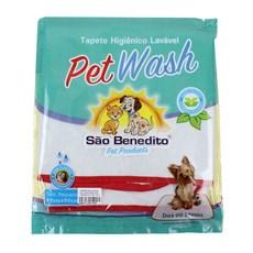 Tapete Higiênico Lavável Pequeno Pet Wash São Benedito Pet Vermelho