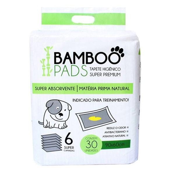 Tapete Higienico P/ Caes 30 Unidades 60x90cm - Bamboo Pads