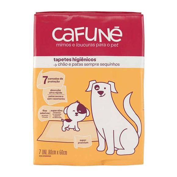 Tapete Higiênico Para Cães Cafuné 80x60cm C/7 Unidades