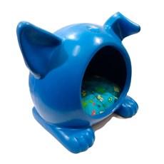 Toca Ideal Cães e Gatos Azul Pequeno