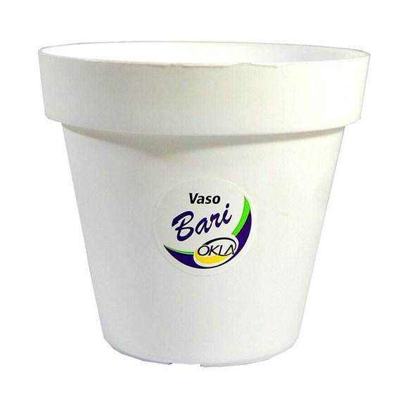 Vaso Bari Branco Okla 12x10,8cm - 0,7 Litros