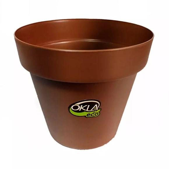 Vaso Bari Eco Tabaco Okla 18x15,5cm - 2,4 Litros