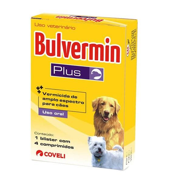 Vermífugo Bulvermin Plus 660mg Coveli C/4 Comprimidos