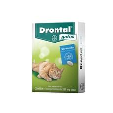 Vermífugo Drontal Gatos Até 4 Kg C/4 Comprimidos