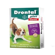 Vermífugo Drontal Plus Cães 10kg C/ 4 Comprimidos