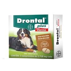 Vermífugo Drontal Plus Cães 35kg C/ 2 Comprimidos
