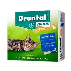 Vermífugo Drontal Spot On Gatos De 2,5kg A 5kg