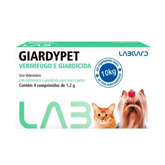 Vermífugo Giardypet Cães e Gatos Labgard C/4 Comprimidos