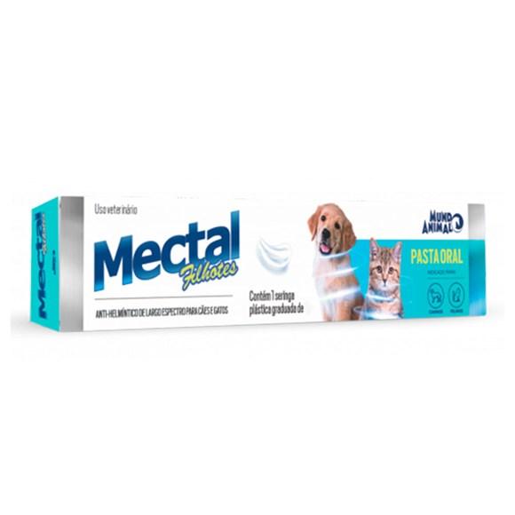 Vermífugo Mectal Filhotes Cães e Gatos Mundo Animal - 15g