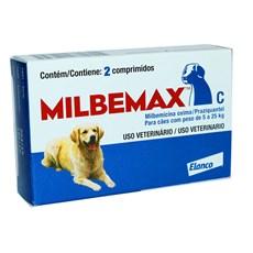 Vermífugo Milbemax Para Cães De 5kg A 25kg Com 2 Comprimidos