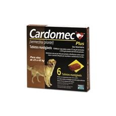 Vermífugo para Cães de 23 a 45 kg com 6 tabletes - Cardomec Plus Merial