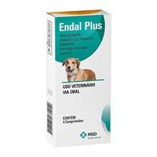 Vermífugo Para Cães Endal Plus 4 Comprimidos