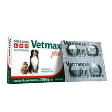 Vermífugo Para Gatos E Cachorro Vetmax Plus Vetnil 4 Comp.