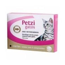 Vermífugo Petzi Gatos Ceva C/ 4 Comprimidos de 600mg