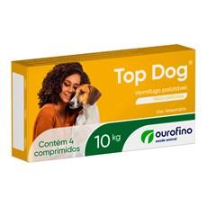 Vermífugo Top Dog 10kg C/ 4 Comprimidos Ourofino