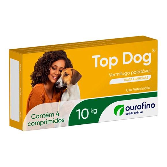 Vermifugo Top Dog 10kg C/ 4 Comprimidos Ourofino