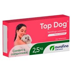 Vermífugo Top Dog 2,5kg c/ 4 Comprimidos Ourofino