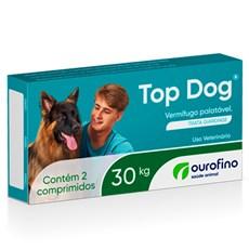 Vermífugo Top Dog 30kg c/ 2 Comprimidos Ourofino