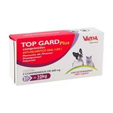 Vermífugo Top Gard Plus 600mg Cães e Gatos Vansil