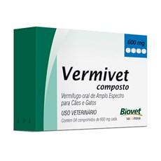 Vermífugo Vermivet Composto Cães e Gatos Biovet – 600mg
