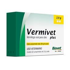 Vermífugo Vermivet Plus Cães Biovet – 2,0g