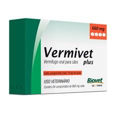 Vermífugo Vermivet Plus Cães Biovet – 660mg