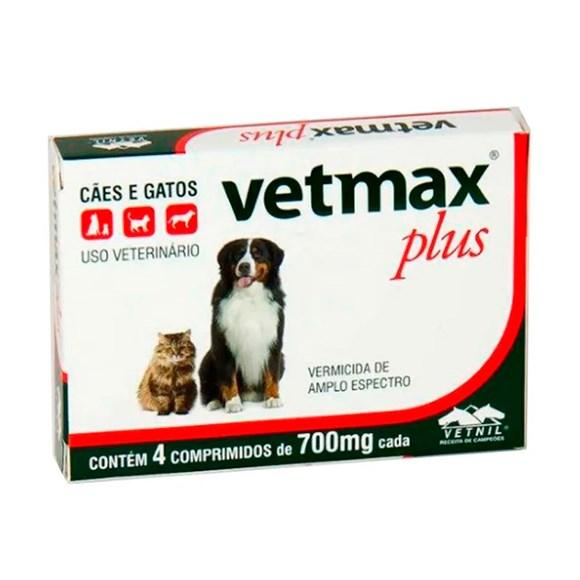 Vermifugo Vetmax Plus Caes e Gatos