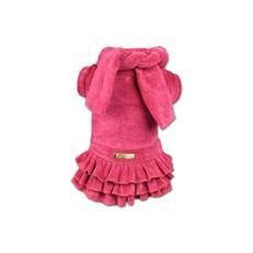 Vestido com Cachecol Agridoce Cães Rosa